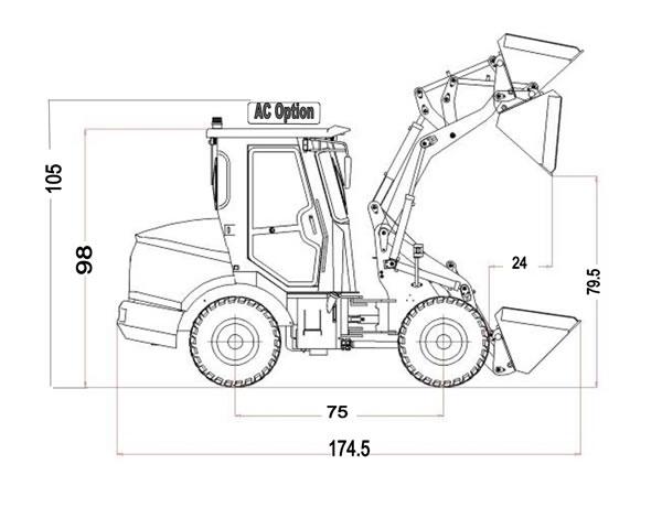 wheel loader model 1050